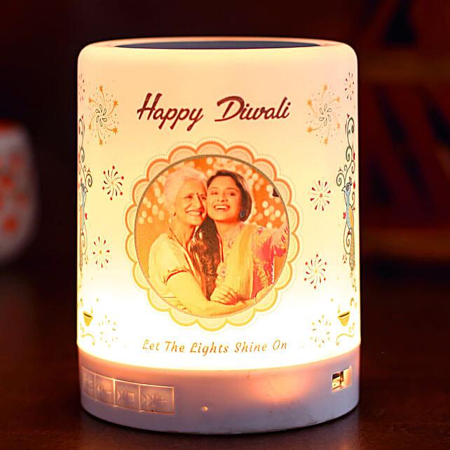 Personalised Happy Diwali LED Speaker:Personalized Diwali Gifts