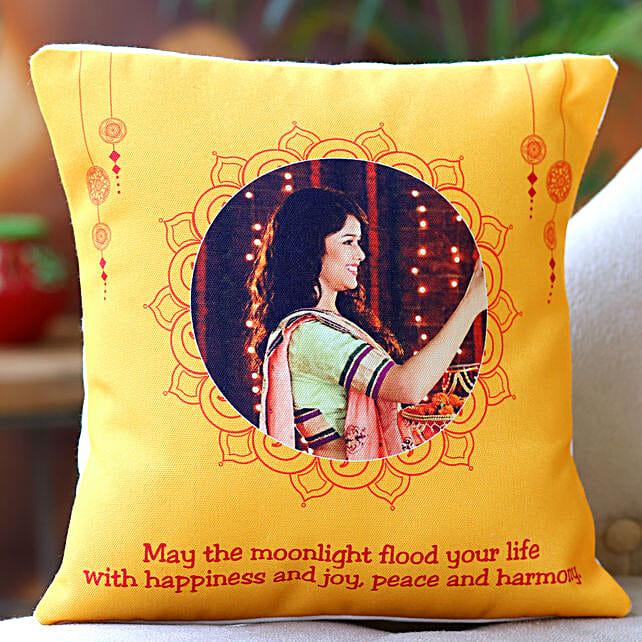 Personalised Happy Karwa Chauth Cushion