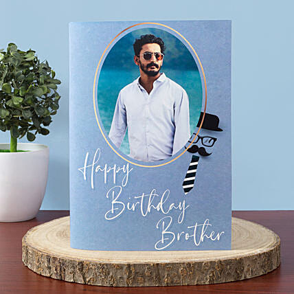 Personalised Happy Birthday Greeting Card For Brother