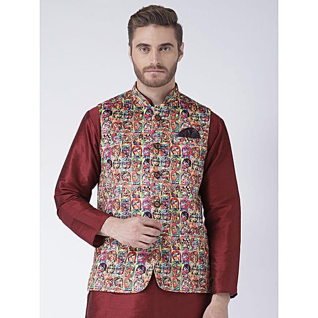 Men Ethnic Regular Fit Nehru Jacket