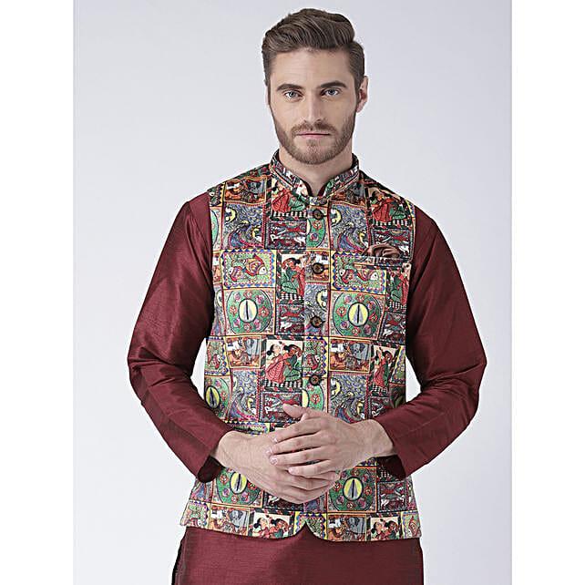 Men Multicoloured Waistcoat