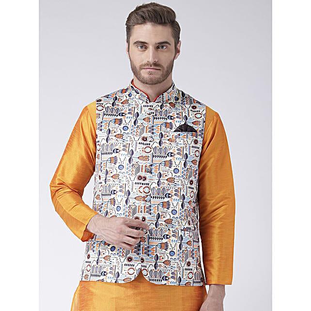Men Stylish Printed Waistcoat