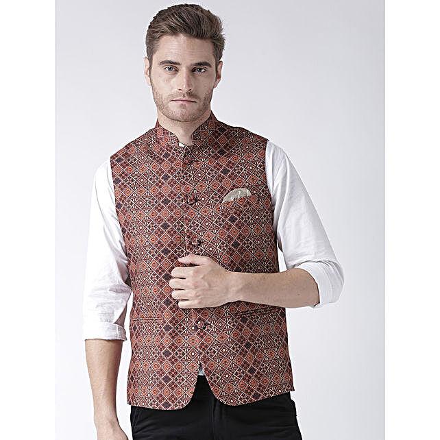 Traditional Printed Waistcoat