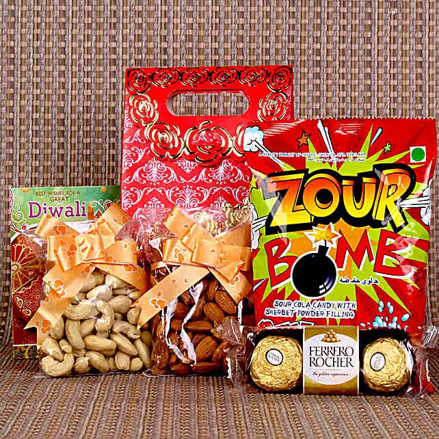 Ferrero Rocher & Dry Fruits Happy Diwali Combo