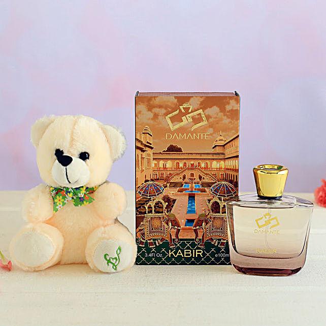 Damante Kabir Perfume and Teddy Bear:Thank You Soft toys