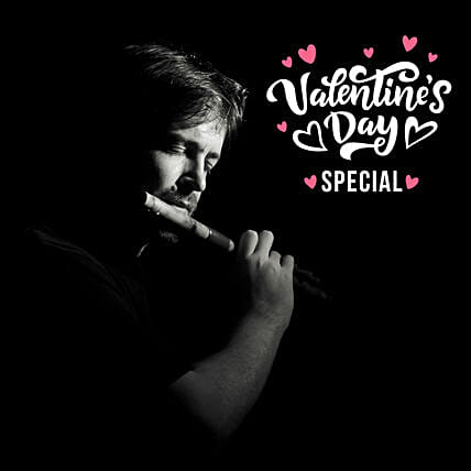 Valentines Day Special Flute Player On Video Call:Valentines Day Digital Gifts