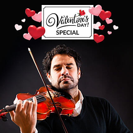 Valentines Day Special Violinist On Video Call:Valentines Day Digital Gifts