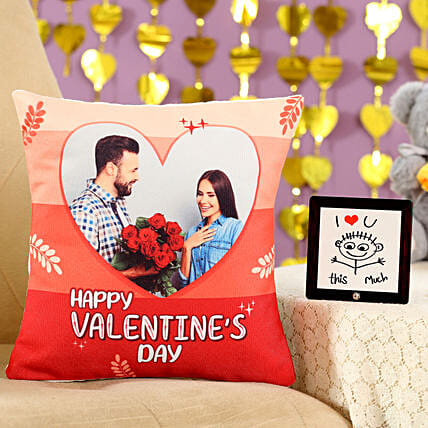 Valentines Special Cushion Table Top Combo