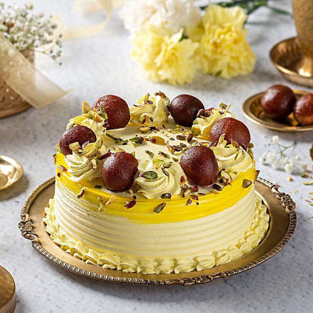 rasagulla vanilla cake:Fusion Cakes