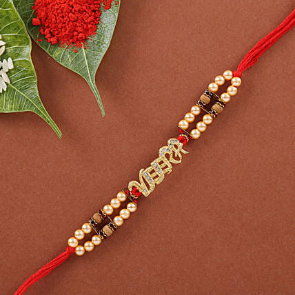 pearl rakhi for brother