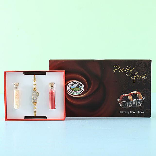 Rakhi and Chocolate Set Online