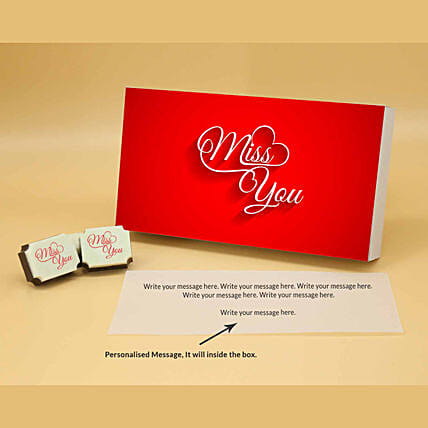 Vibrant Red Personalised Chocolate Box online