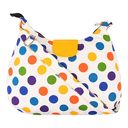 Vivinkaa Canvas Multipolka Flap Hobo Sling