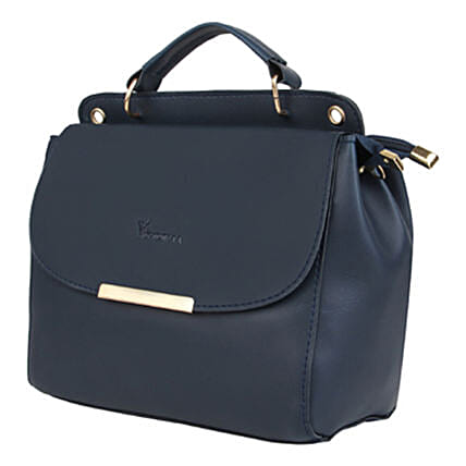Vivinkaa Leatherette Flap Compartment Sling Navy:Handbags and Wallets