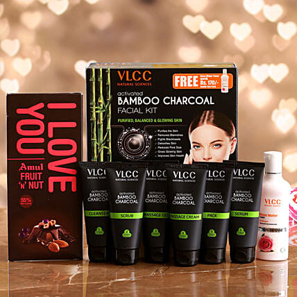 VLCC Bamboo Charcoal Kit And Amul Fruit N Nut