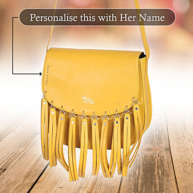 Yellow Tassels Bag Online