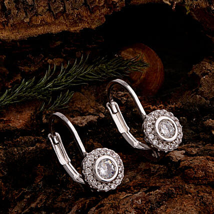 CZ Gems Embellished Earrings