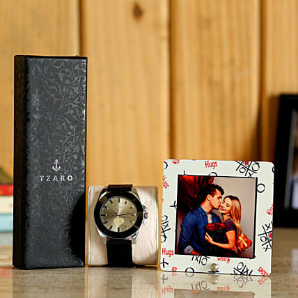 Watch & Personalised Table Top For Him