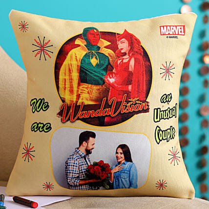 We Are An Unusual Couple Personalised Cushion