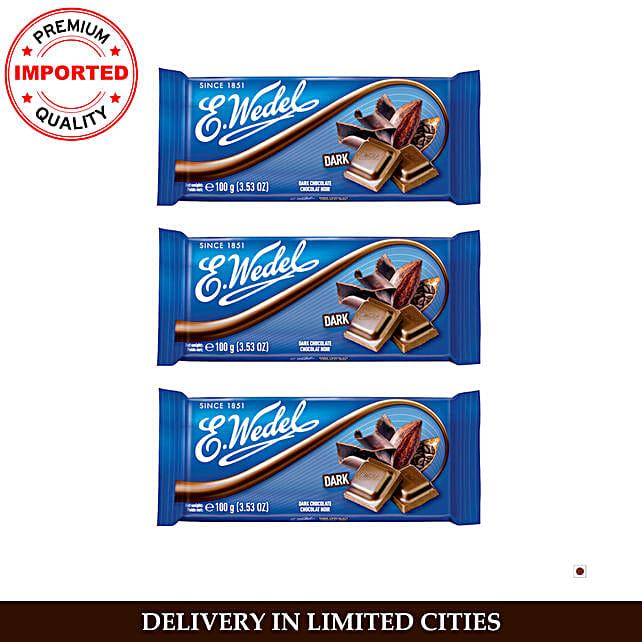 Wedel Dark 50 Cocoa Chocolate Bar Pack Of 3