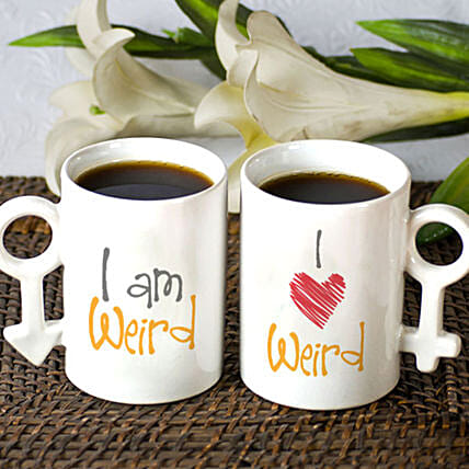 Weird In Love Personalised Mug Set