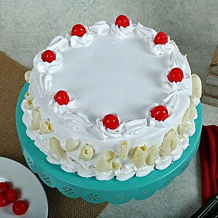 White Forest Cake 1kg Eggless