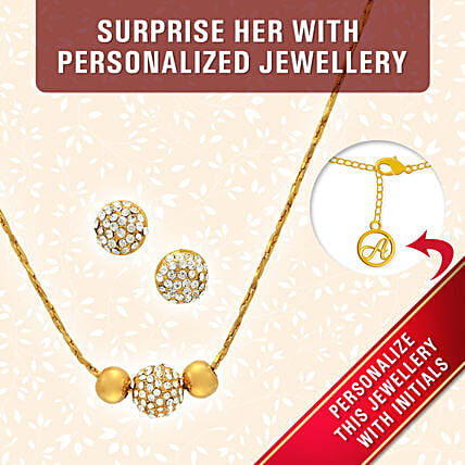 personalised pendant set for her online