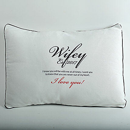 Wifey Love Personalized Cushion