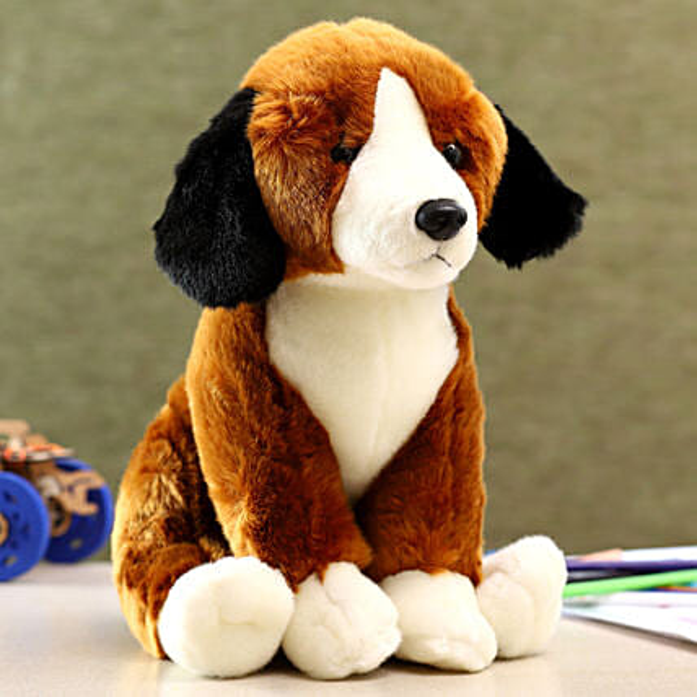 Wild Republic White Brown Sitting Beagle Soft Toy