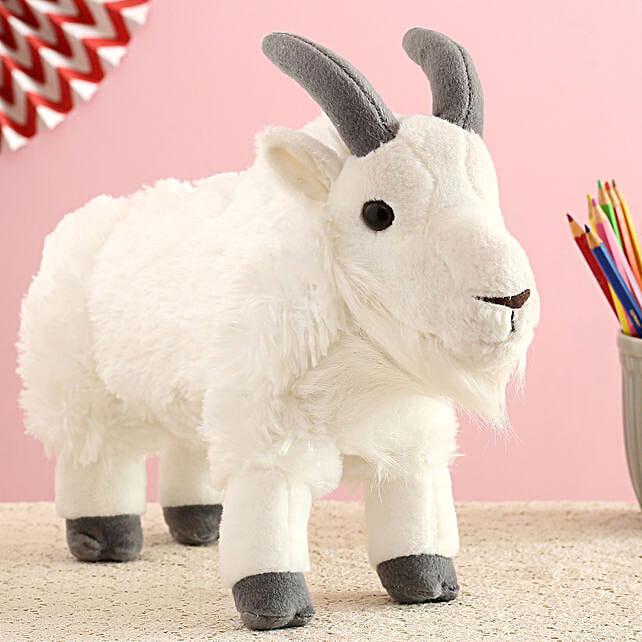 Wild Republic White Plush Mountain Goat Soft Toy