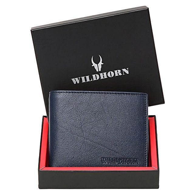Wildhorn Full Grain Leather Wallet Blue:Buy Wallets