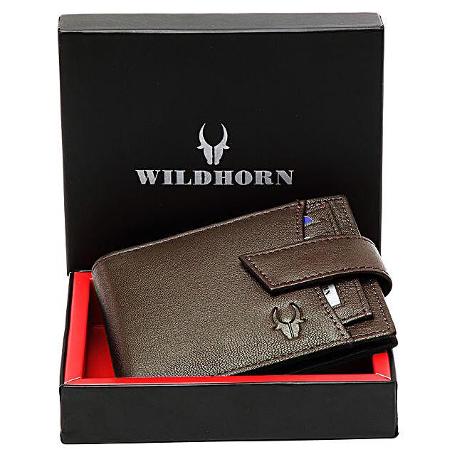 Wildhorn Genuine Leather Mens Wallet Brown