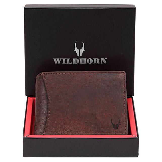 Wildhorn Premium Mens Wallet Brown