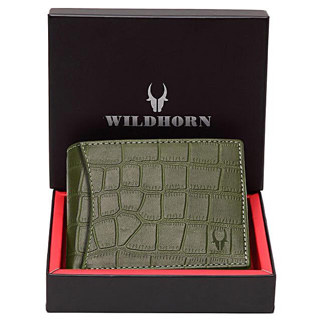 Wildhorn Suave Men Wallet Green:Buy Wallets
