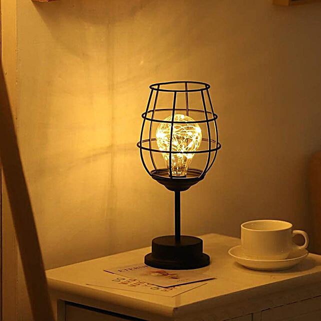 Wine Glass LED Night Lamp Hollow Iron