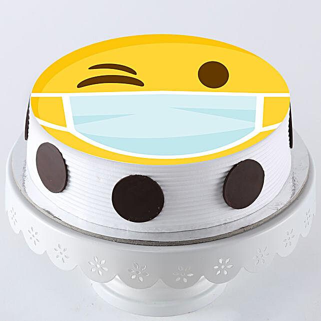 Smiley Face Mask Cake Online