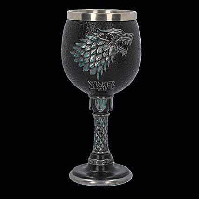 Online Winter Is Coming Wine Goblet:Bar accessories