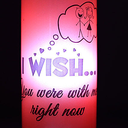 Wish To Be With You Lamp-red coloured wish to be with you bottle lamp