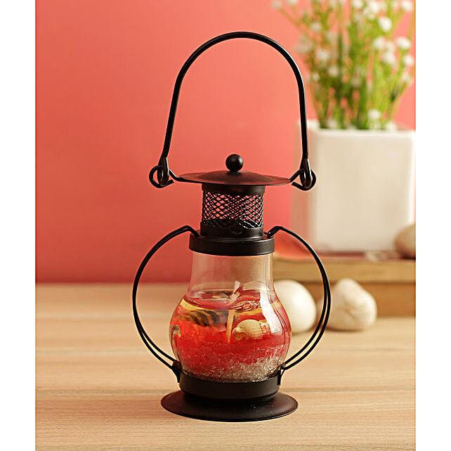 WISHTANK Red Ocean Candle Lantern Medium