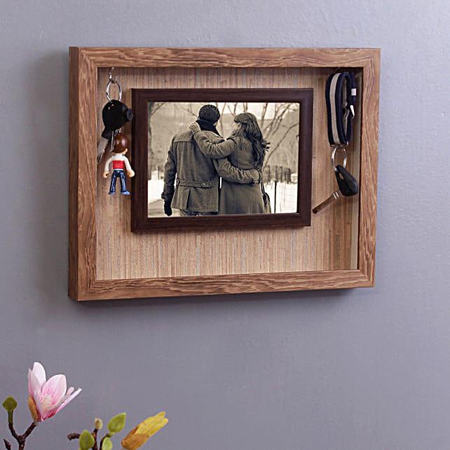 WISHTANK Wall Mounted Photo Frame With Key Holder
