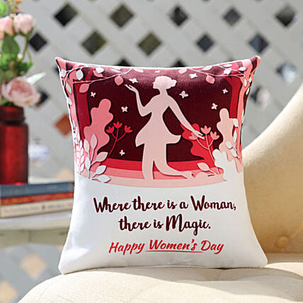 Exclusive Women's Day Cushion Online:Womens Day Gifts for Sister