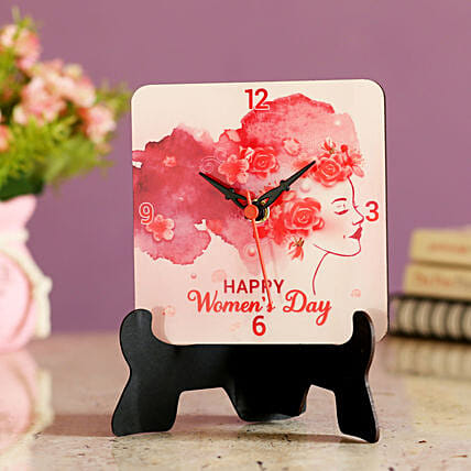 greeting womens day printed table clock online:Womens Day Gifts for Girlfriend