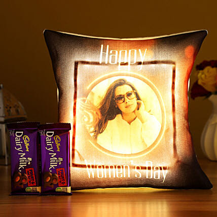 Women s Day Personalised LED Cushion Fruit N Nut Hand Delivery