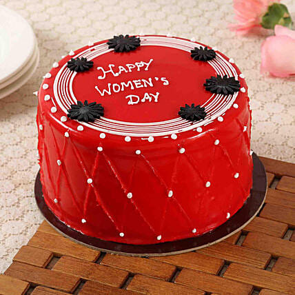 Red Women's Day Cake