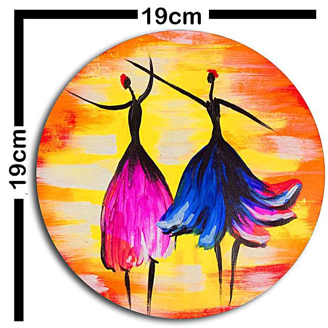 dancing art wallplatesSet of 3