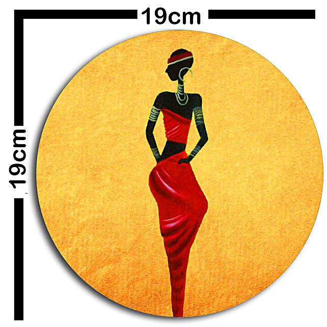 African art wallplates Set of 3
