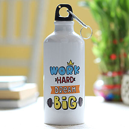 pirnted bottle for  gym bro