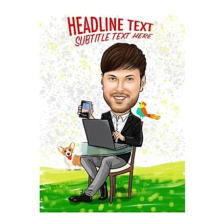 Personalised Email Poster:Send Digital Caricatures & Posters