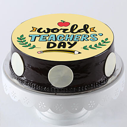 best teachers day printed photo cake online:Happy Teachers Day Cake