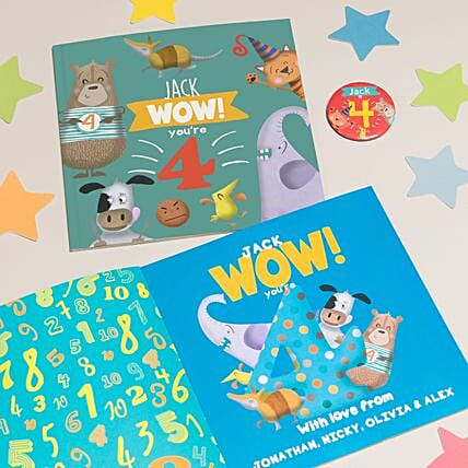 Personalised Paperbook for 4 Year Old